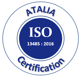 Logo norme ISO 13485 Atalia certification