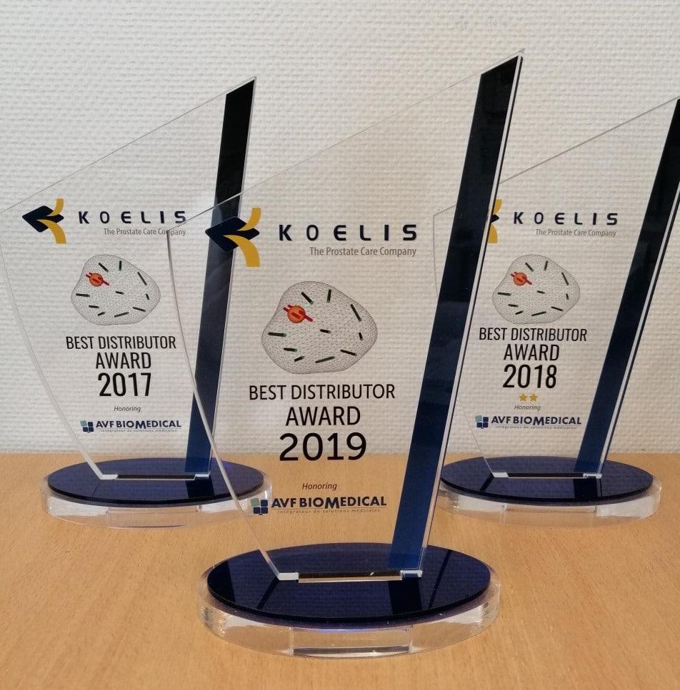 3 Awards Best Ditributor Koelis AVF Biomedical