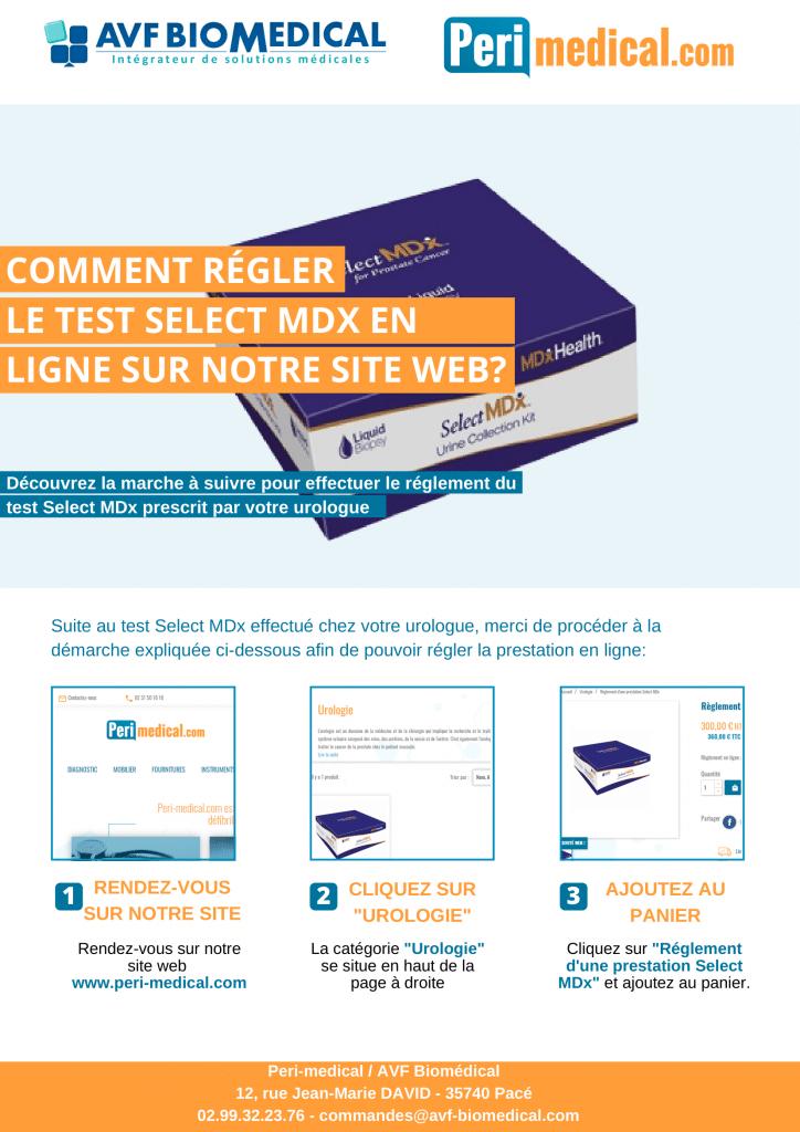 Notice commande de test Select MDx en ligne