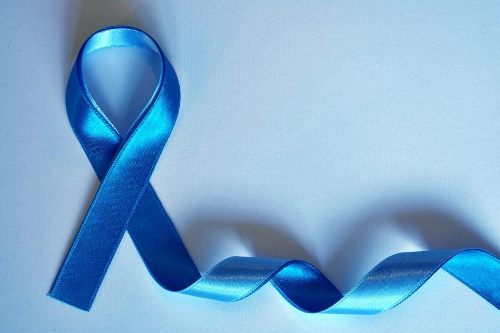 Ruban bleu pour le cancer de la prostate