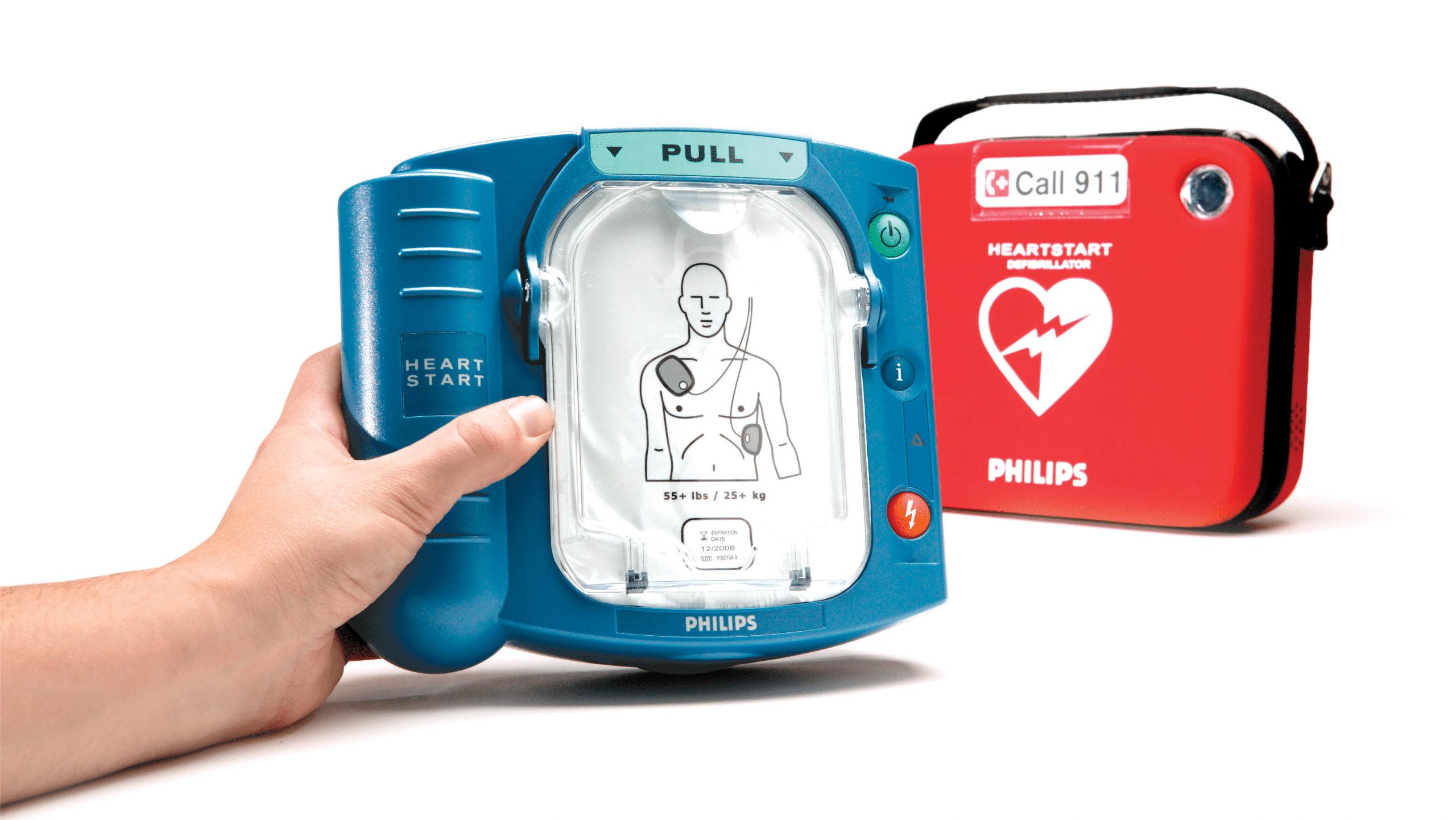 Défibrillateur Philips HS1 et sa mallette