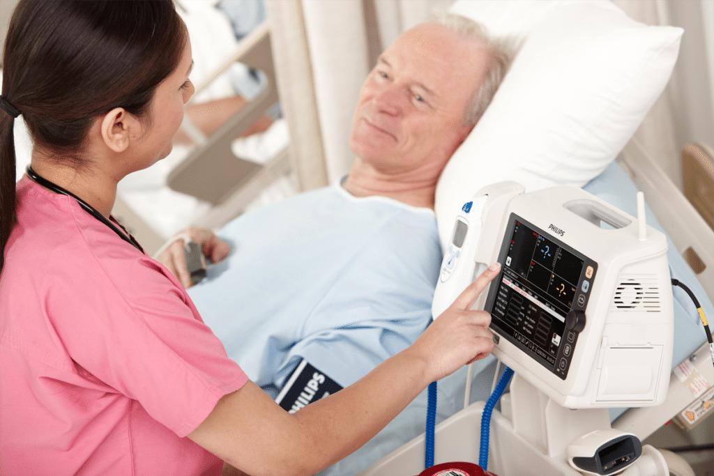 Personnel soignant et moniteur de paramètres vitaux